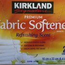 New Kirkland Signature Fabric Softener 250 Single Sheets Laundry Dryer Refresh
