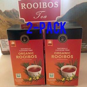 SOUTH AFRICA ORGANIC ROOIBOS TEA ROYAL-T 40 TEA TAGLESS BAGS 100G X 2P NEW FRESH