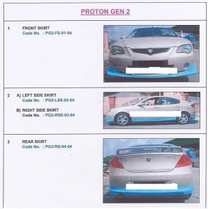Proton Gen2 Full Set PU Body Skirting 1