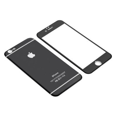 Iphone 6 & 6S 4.7 temper glass, titanium back, scartch and shatterproof (black)
