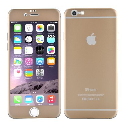 Iphone 6 & 6S 4.7 temper glass, titanium back, scartch and shatterproof (gold)
