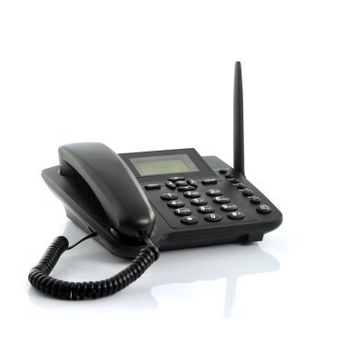 Wireless GSM desktop phone w/SMS function