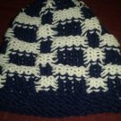 Adult Blue and white checkered hat