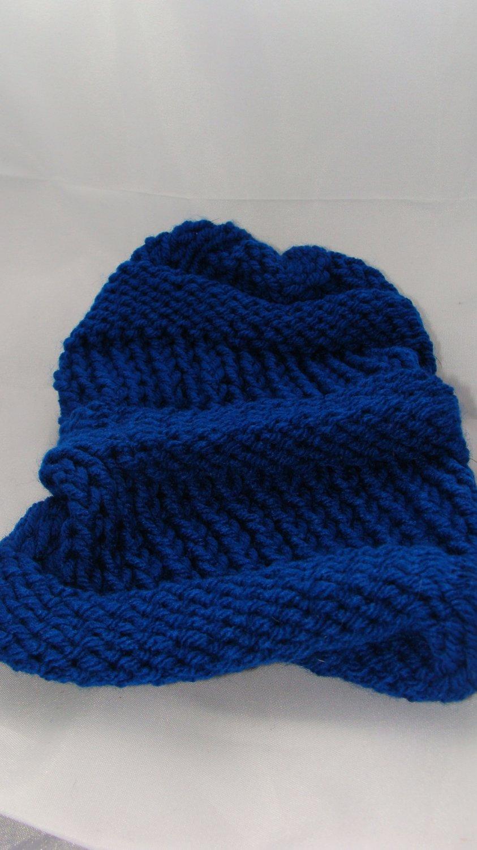 Kids blue slouchy hat