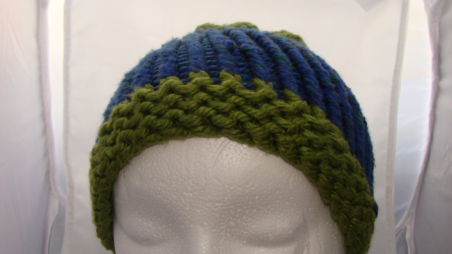 Adult Bulky Blue and green hat