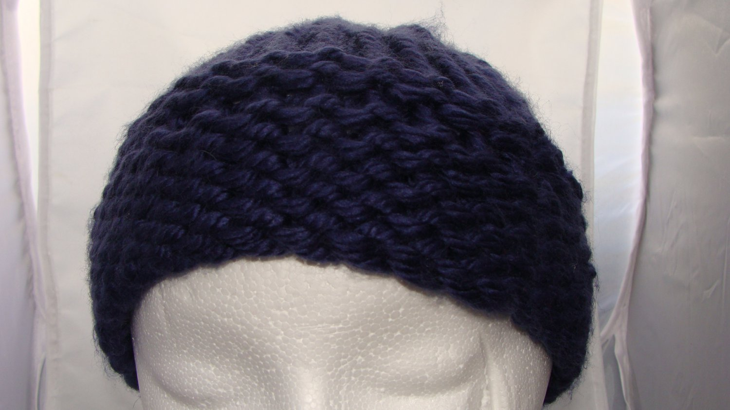 Adult Dark blue bulky hat