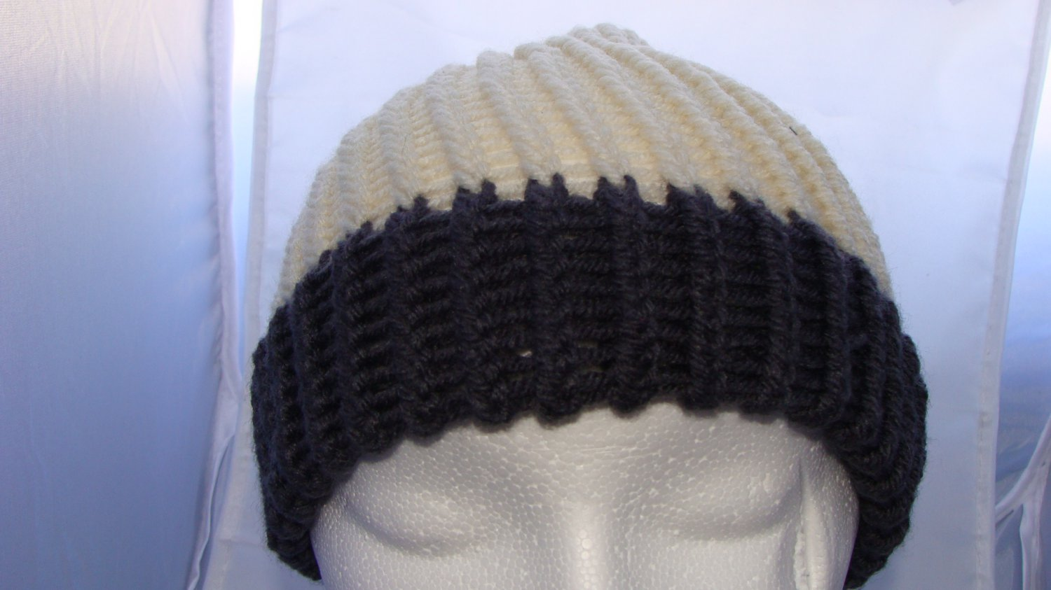 Adult White and grey hat