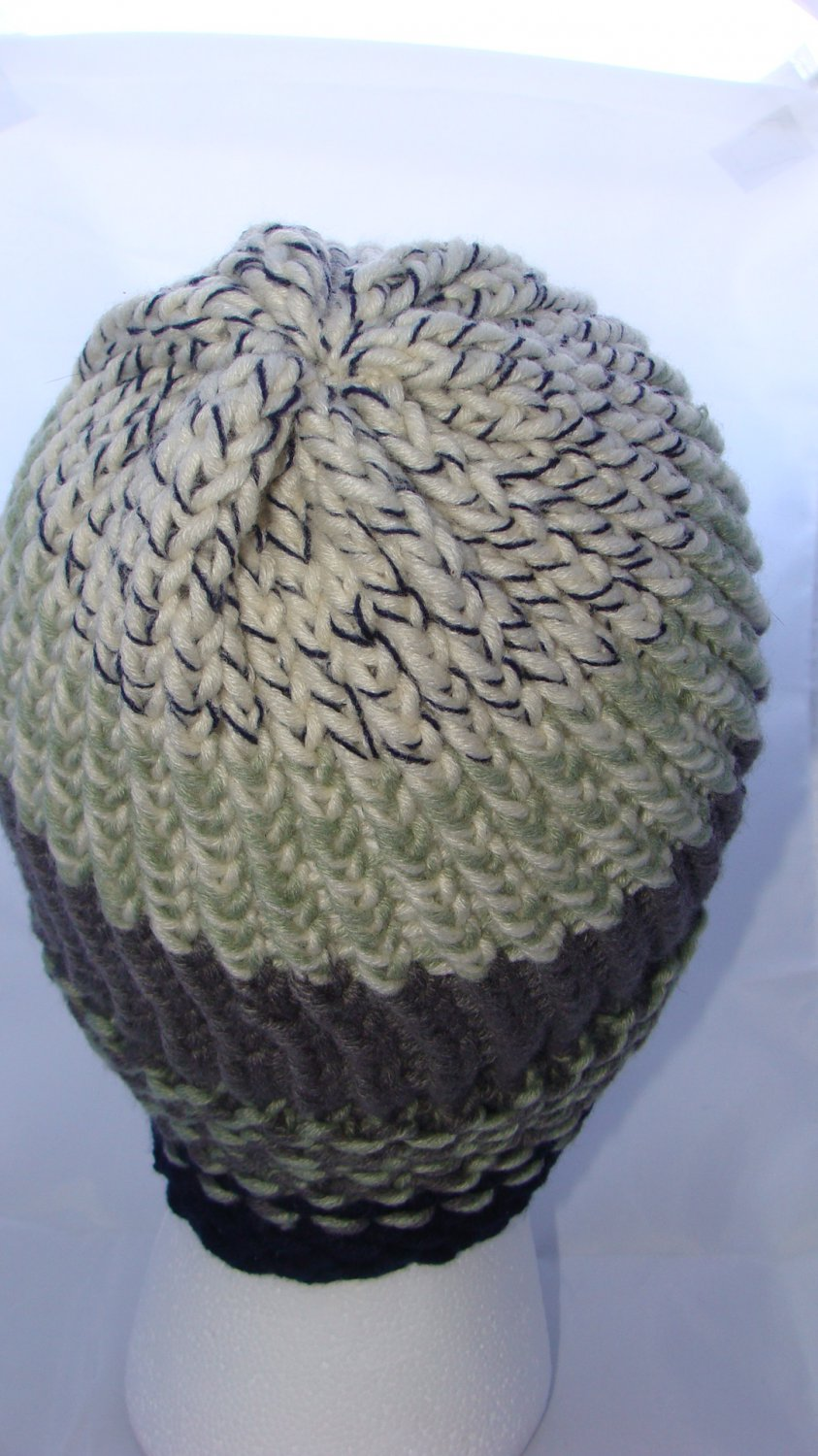Adult warm multicolored hat
