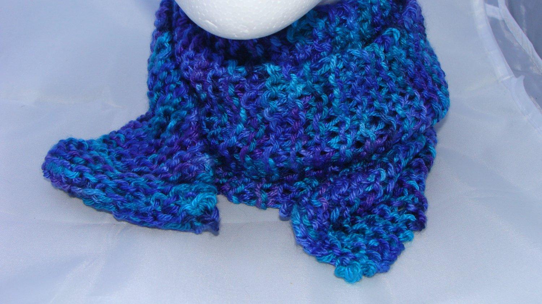 Kids blue and purple scarf