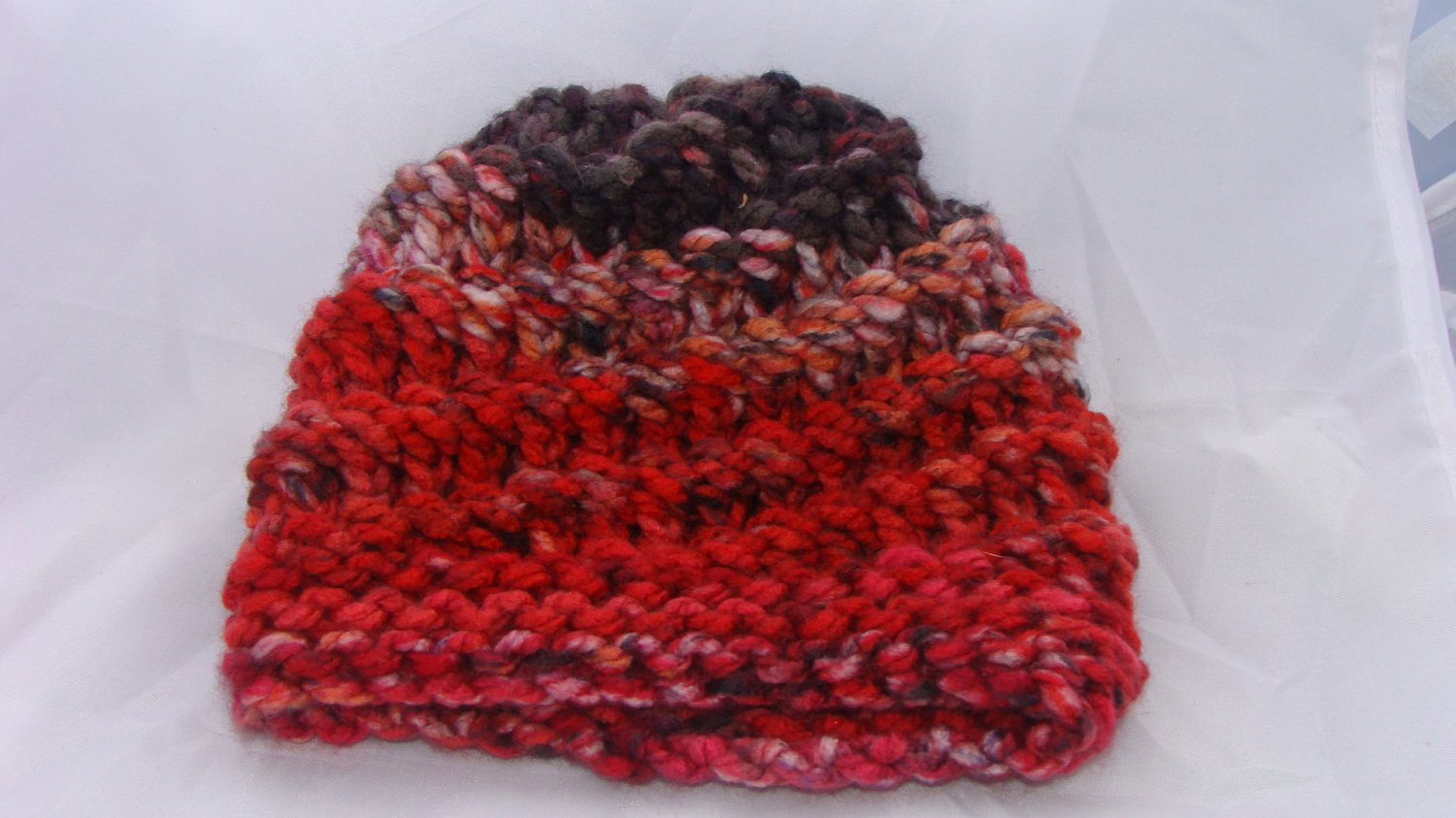 Kids red and brown spiral hat