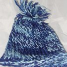 Kids Blue hat with pompom