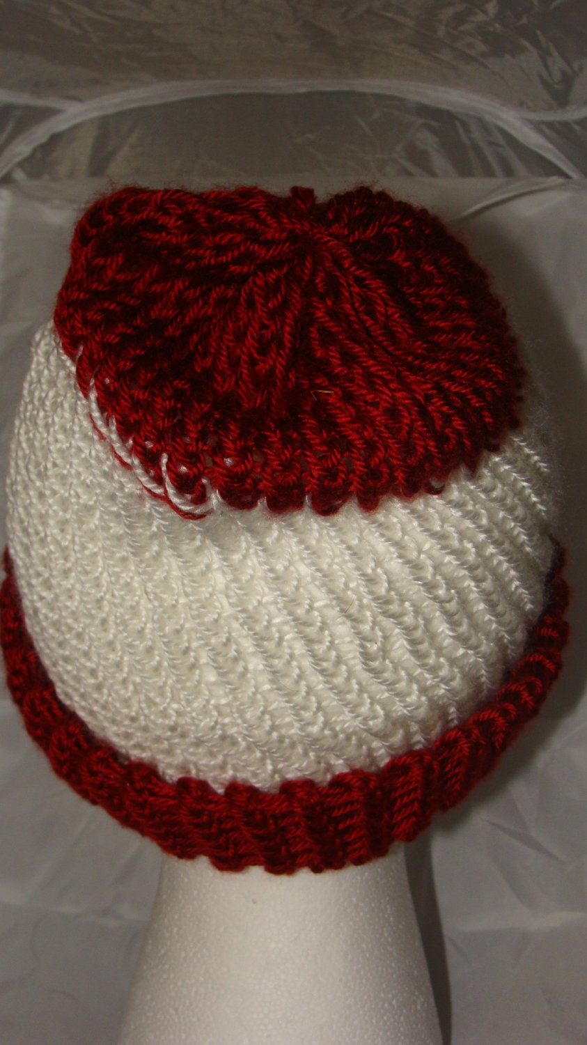 Adult Red and white hat