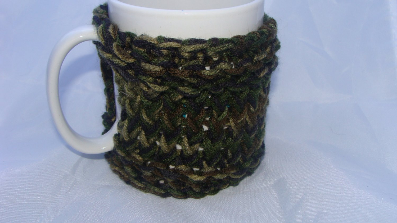 Camouflage mug koozie
