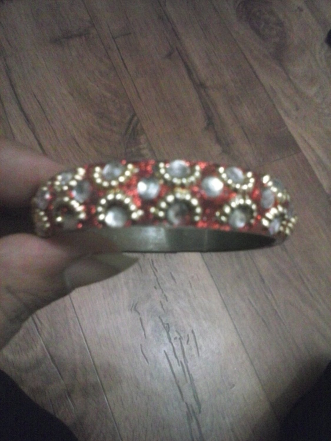 Girls Red And Diamontie Bangle for kids