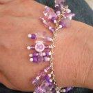 Awareness Beaded Charm bracelet