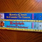 Rudolph the Red Nosed Reindeer VHS Santa Claus Is Comin' to Town (VHS) box set