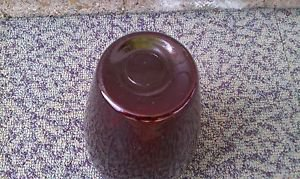 "Antique 9"" VASE Ruby Red or Cranberry Scalloped 1930's 40's"