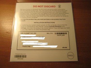 Dell Microsoft Windows 8.1 Home Product Key Sticker