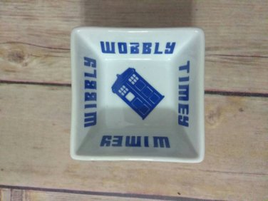 Dr Who ring dish - phone booth ring dish - Valentine's gift for Dr who - wibbly wobbly timey wimey