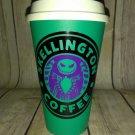 Nightmare Before Christmas Jack Skellington Coffee Travel Mug - teal cup