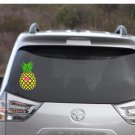 "Tropical Pineapple & Flamingo Decal Car Decal or Tumbler  - 4"" tall x 2,5"" wide"