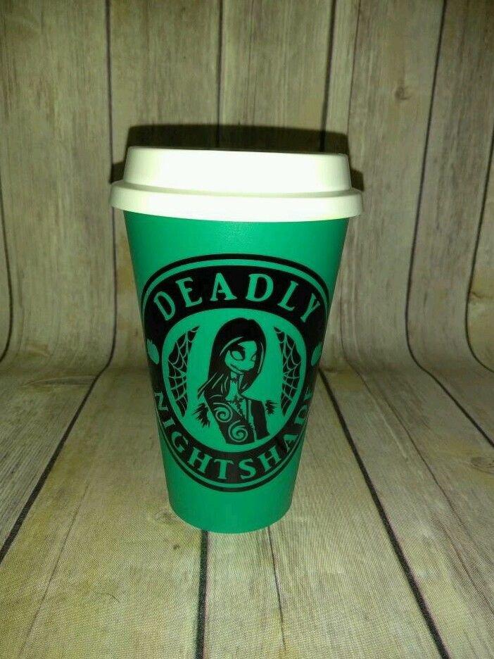 Nightmare Before Christmas Skellington Coffee plastic Travel Mug - Sally Stitch