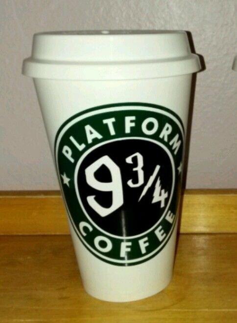 Harry Potter Platform 9 3/4 Reusable Lightweight Plastic Coffee Cup