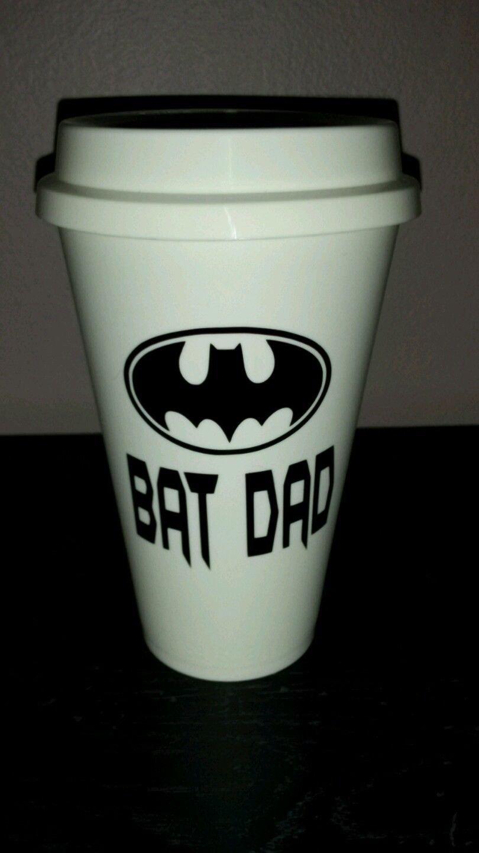 Bat Dad Coffee - Batman Coffee Travel Plastic Reusable Travel Mug