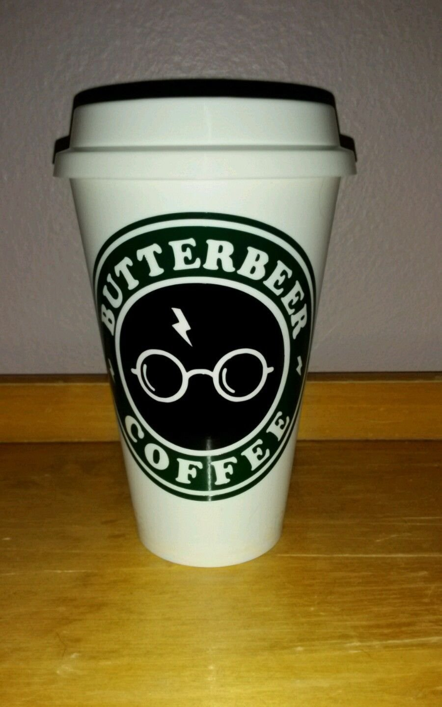 HARRY Potter - Butterbeer Plastic Reusable Travel Coffee Cup