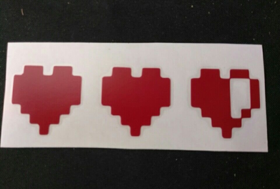 "Gamer Life hearts - Zelda Decal/ Sticker 1"" x 3.5"""