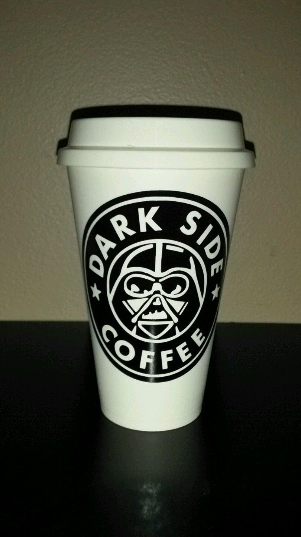 Star Wars- Darth Vader - Dark side coffee  Plastic Reusable Travel Mug