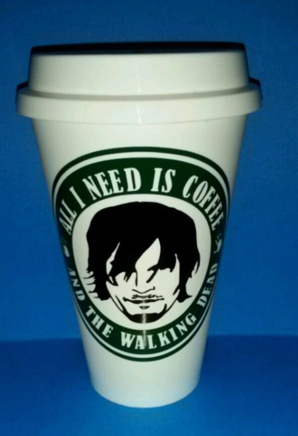 Walking Dead - Daryl Dixon Coffee Cup - All I need is coffee and walking dead!