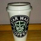 Star Wars - Darth Vader  Plastic Reusable Travel Mug -Black N Green