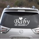 "Baby On Board Safety Car Decal - 3"" tall x 6"" wide"