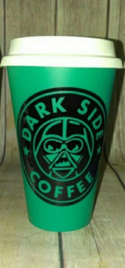 Star Wars- Darth Vader - Dark side coffee  Plastic Reusable Travel Mug - green