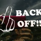 "Back off - Screw off - 5"" x 3""  Fuck-It Decal/ Sticker"