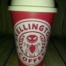 Nightmare Before Christmas Jack Skellington Coffee Travel Mug - Red and white