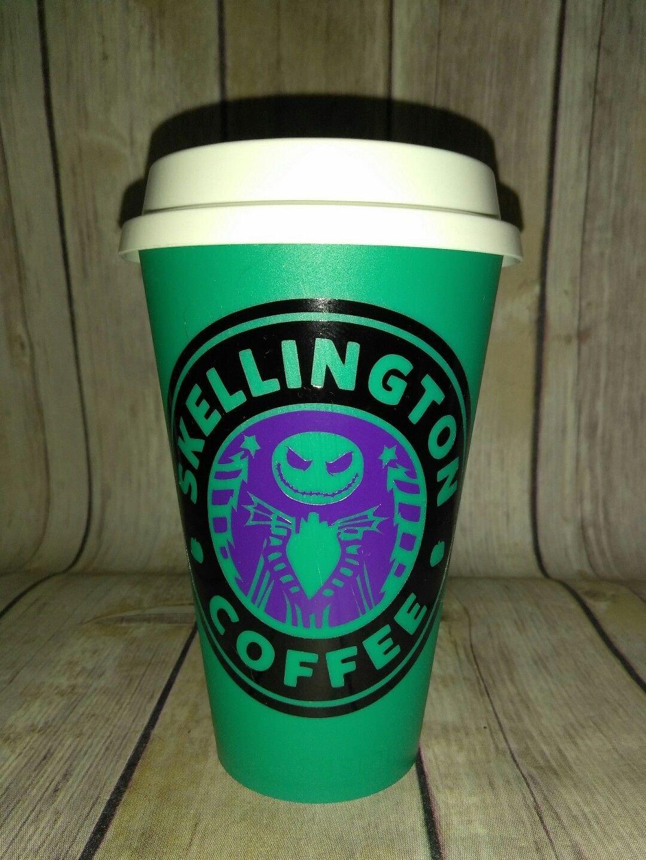Nightmare Before Christmas Skellington Coffee plastic Travel - Teal