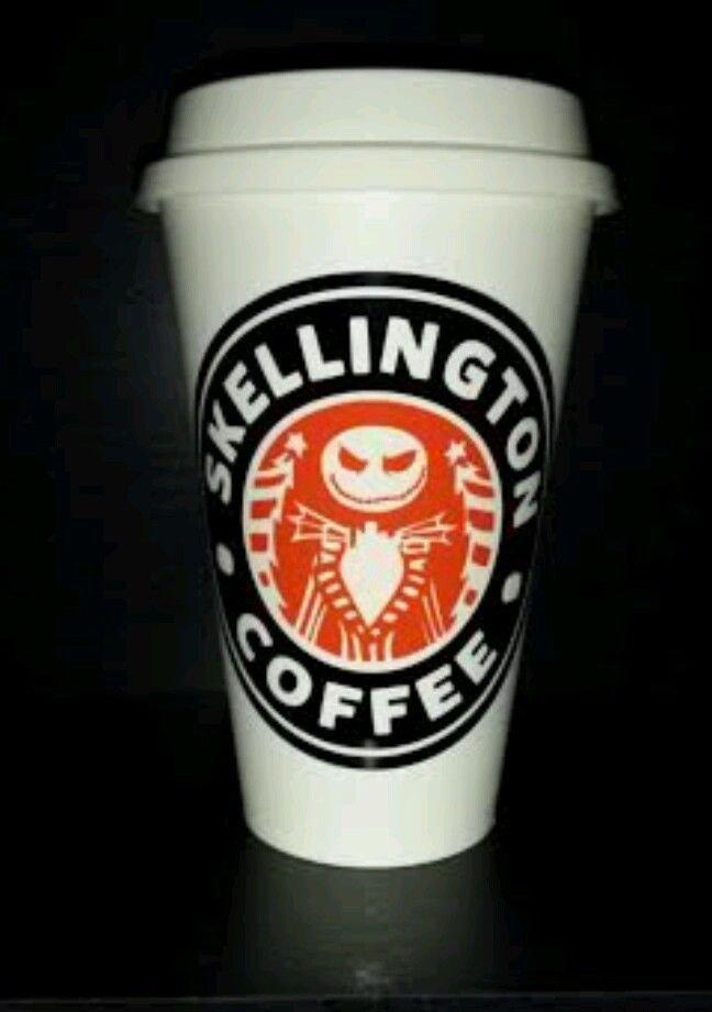 Nightmare Before Christmas Jack Skellington Coffee Travel Mug - black and orange