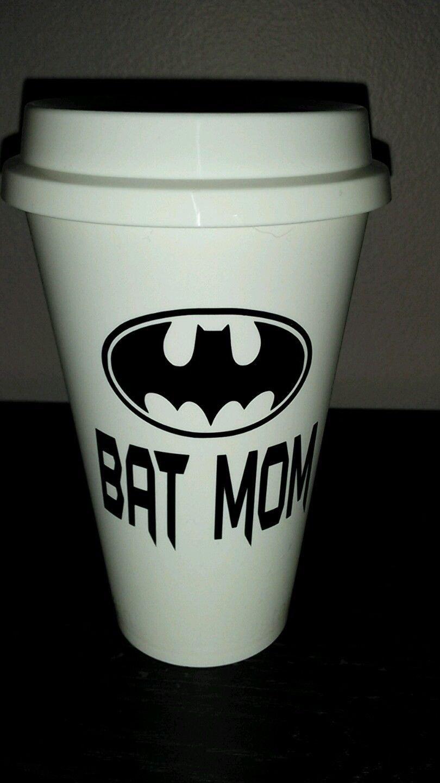 Bat Mom Coffee - Batman Coffee Travel Plastic Reusable Travel Mug