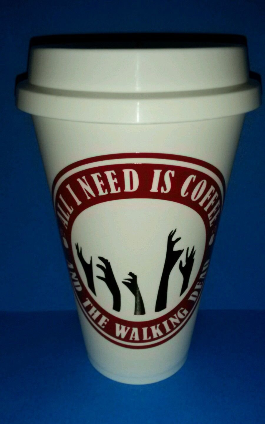 Zombies - Walking Dead -  Coffee Cup - All I need is coffee and walking dead!