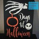 Countdown for Halloween Chalkboard Jack skellington Nightmare before christmas