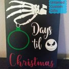 Countdown for Christmas Chalkboard Jack skellington Nightmare before christmas