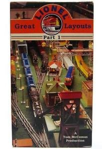 Great Lionel Layouts Part1 TM Tom McComas Video VHS Hudson GG1 SP F-3 Blue Comet