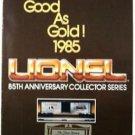 1985 Lionel O Scale Trains & Accessories 85th Anniverary Catalog Guide 8580 1552
