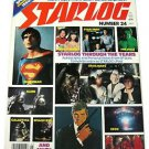 Vintage 1979 Starlog #24 Star Wars Trek Alien Space 1999 Dr Who Superman