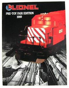 1989 Lionel Train Pre-Toy Fair Edition Litho Catalog 18205 18203 18004 18303 44