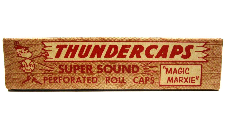 Vintage NOS 1950s Marx Magic Marxie Thundercaps Thundergun Caps 5 Rolls with Mint Crisp Box