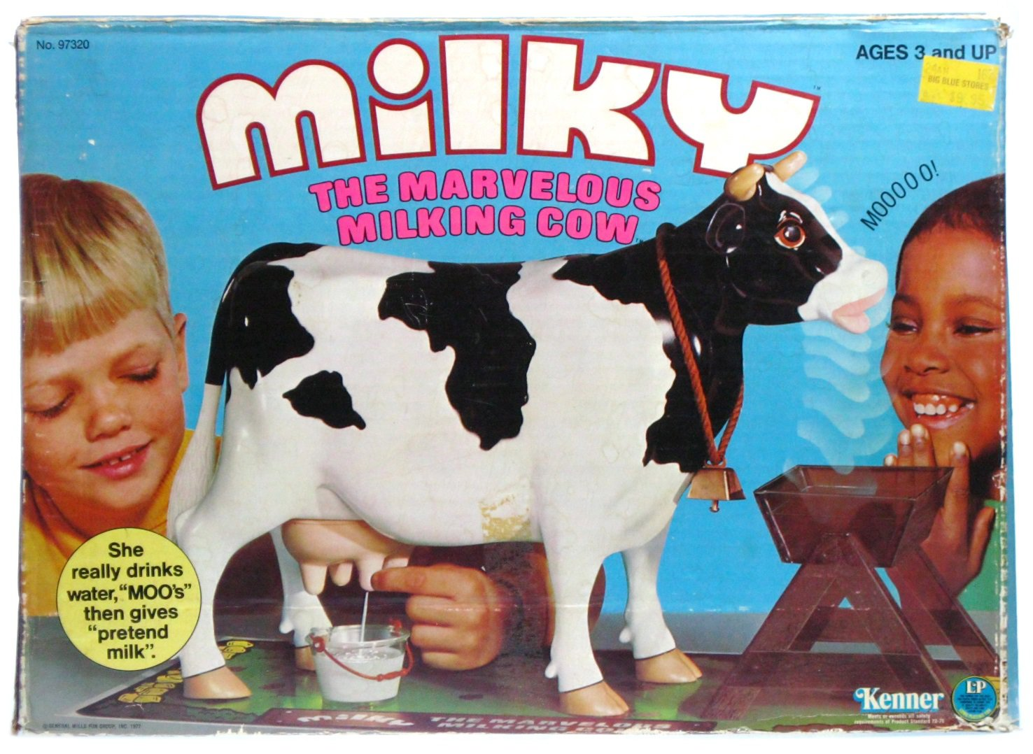 Vintage 1977 Kenner Milky the Marvelous Milking Dairy Cow Game w/Box & Instructions
