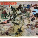 Vintage Marx Battleground WWII US Army German Soldier 182pc Playset w/Box & Extras